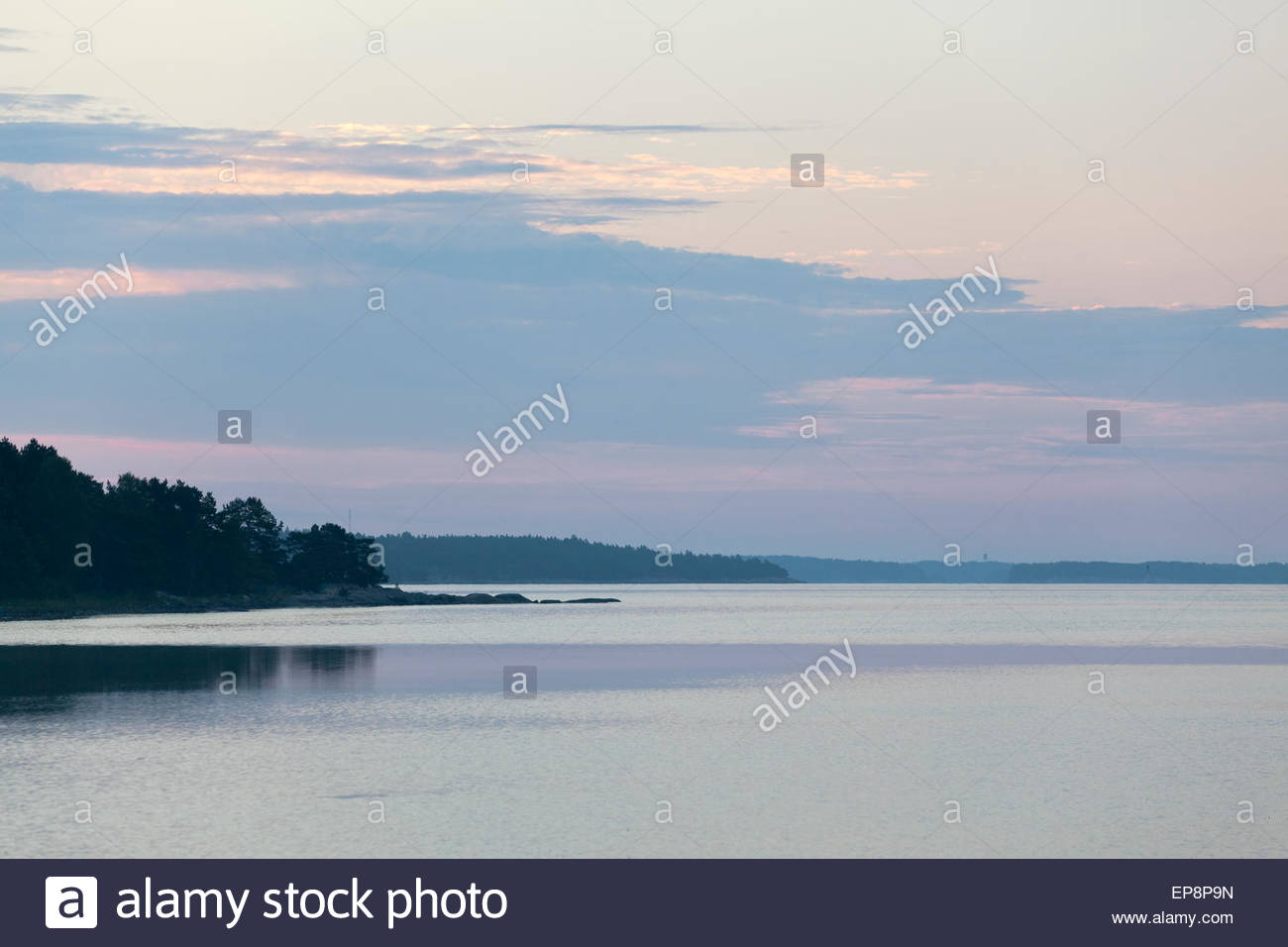 Early summer morning in Finland - Stock Image