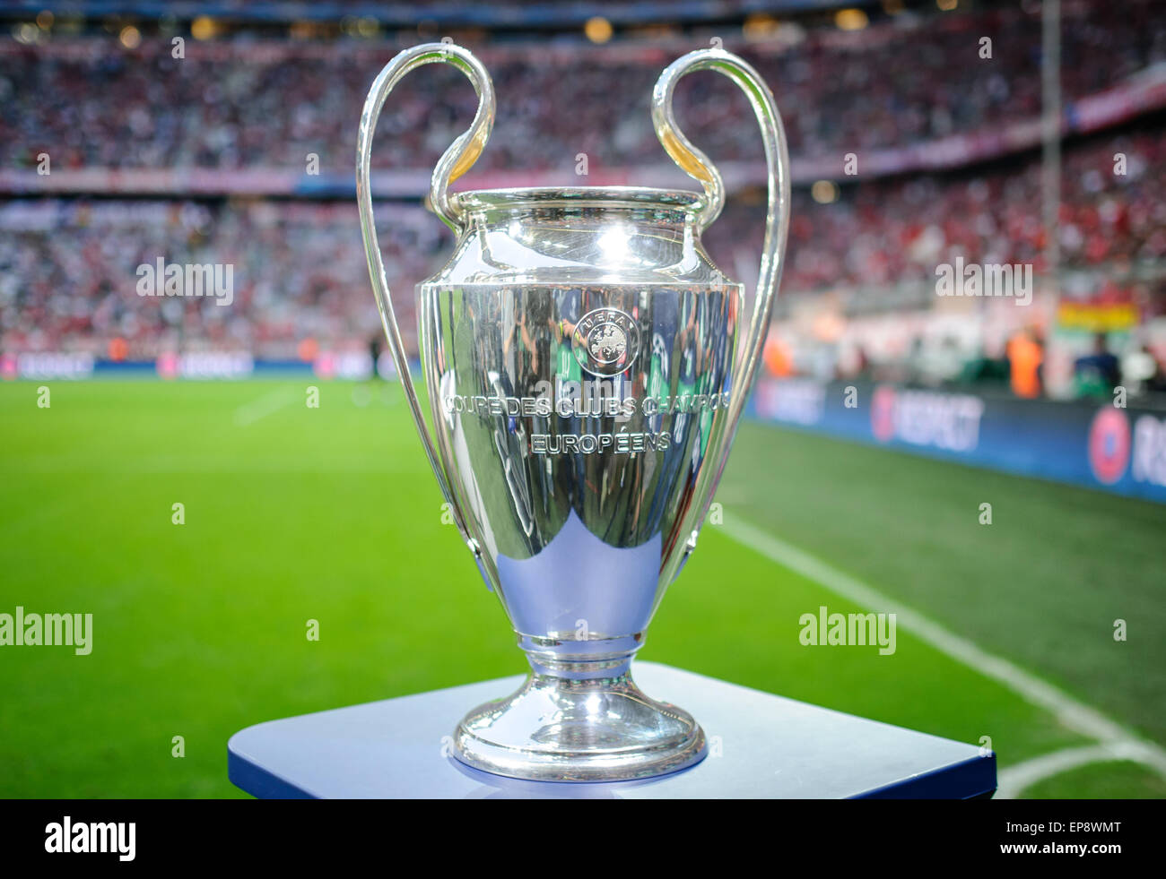 12th May 2015 The UEFA Champions League Trophy Is Seen