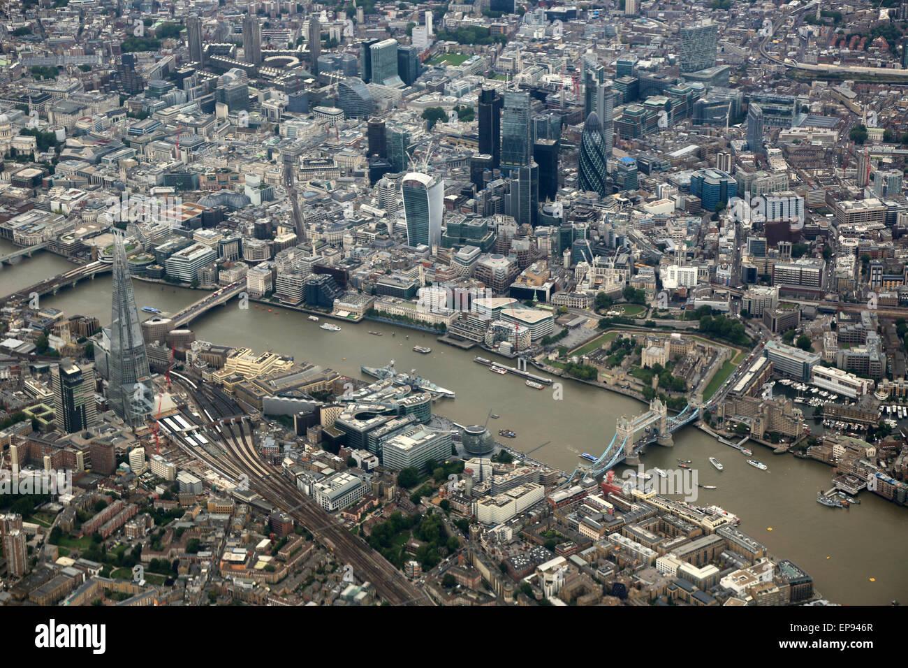 London von oben - Stock Image