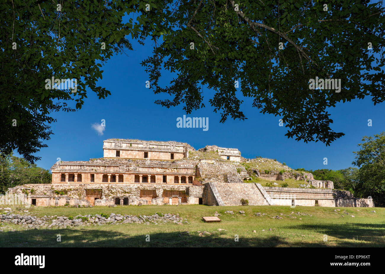 El Palacio Norte, Maya ruins at Sayil archaelogical site, UNESCO World Heritage Site, Ruta Puuc, Yucatan state, - Stock Image