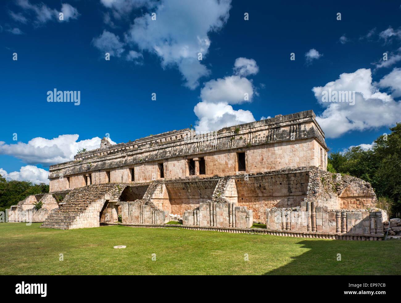 El Palacio, Maya ruins at Kabah archaelogical site, Ruta Puuc, Yucatan state, Mexico - Stock Image