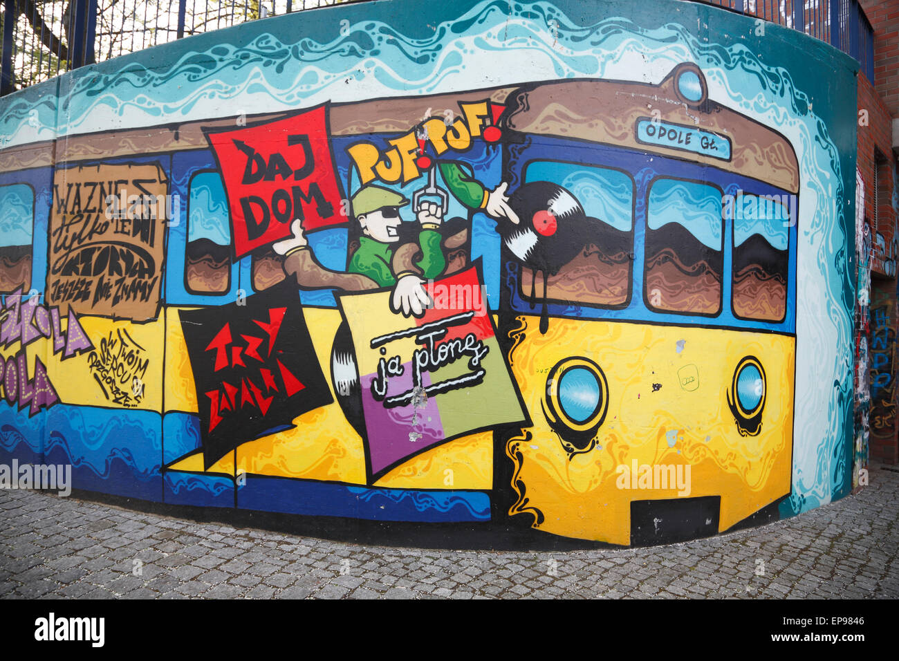 Graffiti in Opole, Silesia, Poland, Europe Stock Photo