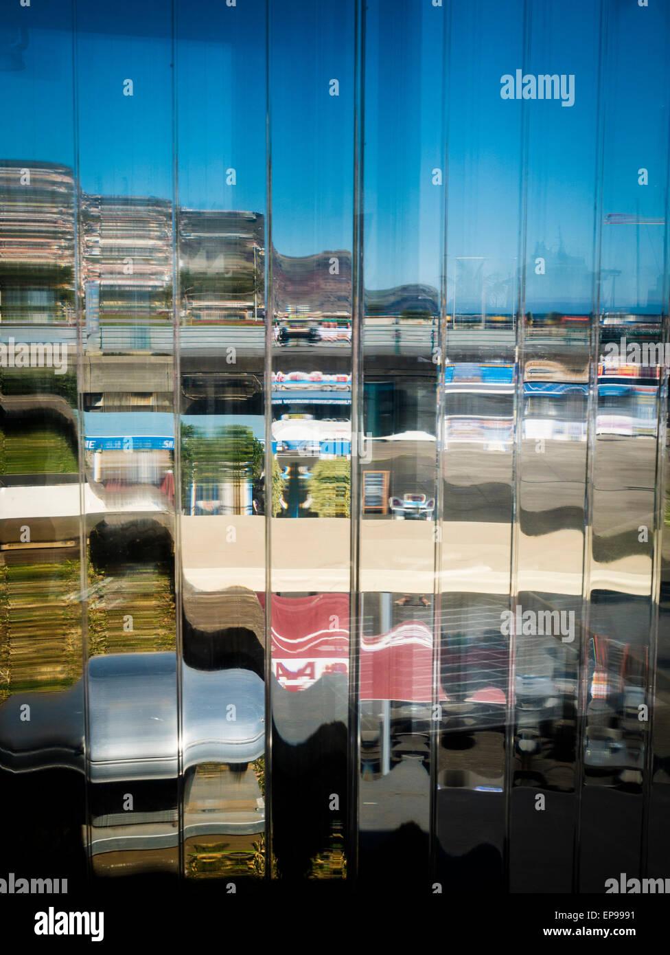 Glass Screen, Marina, Funchal, Madeira, Portugal - Stock Image