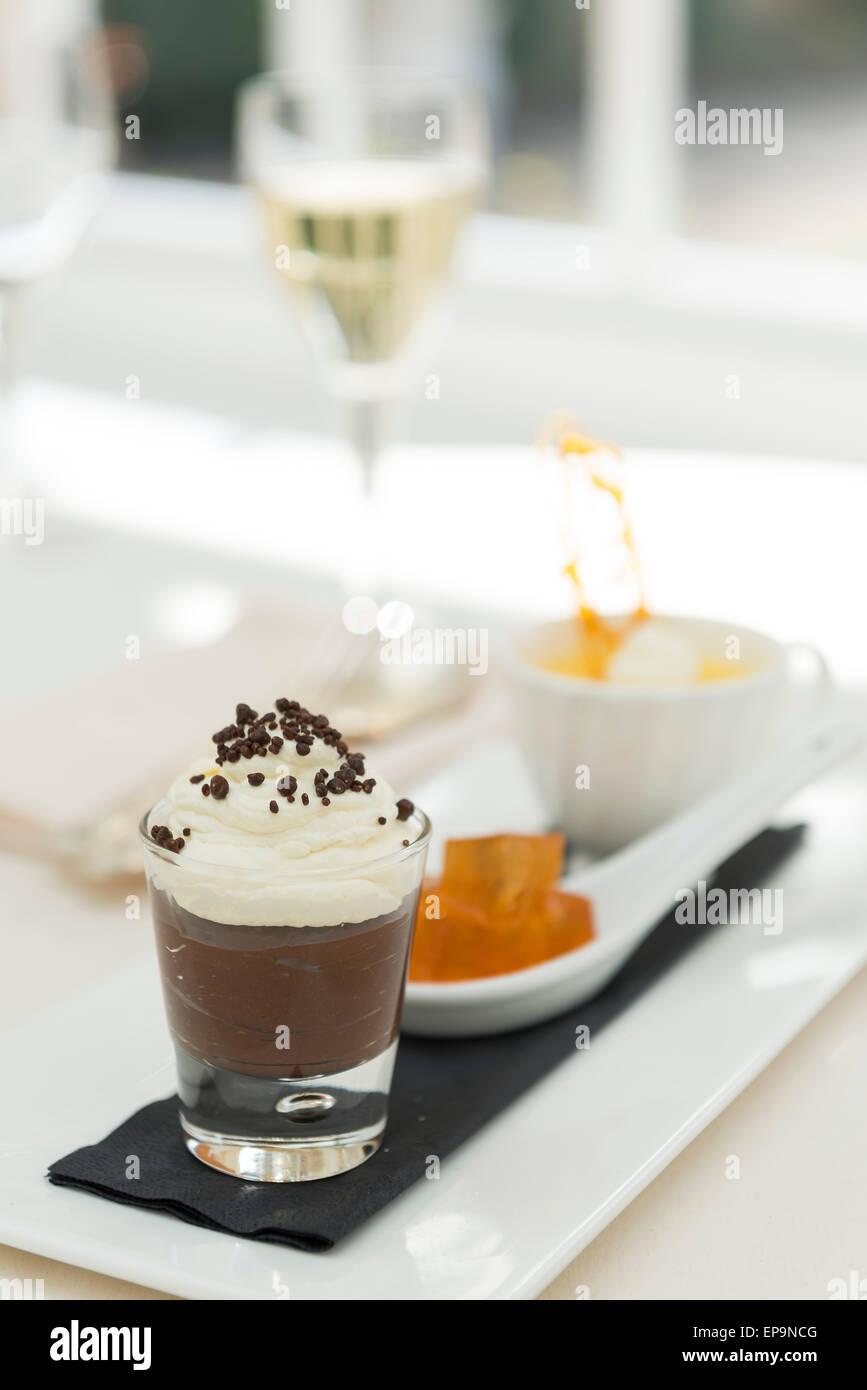 Trio of Desserts - Stock Image