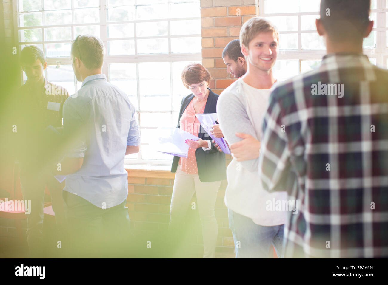 people networking community center - Stock Image