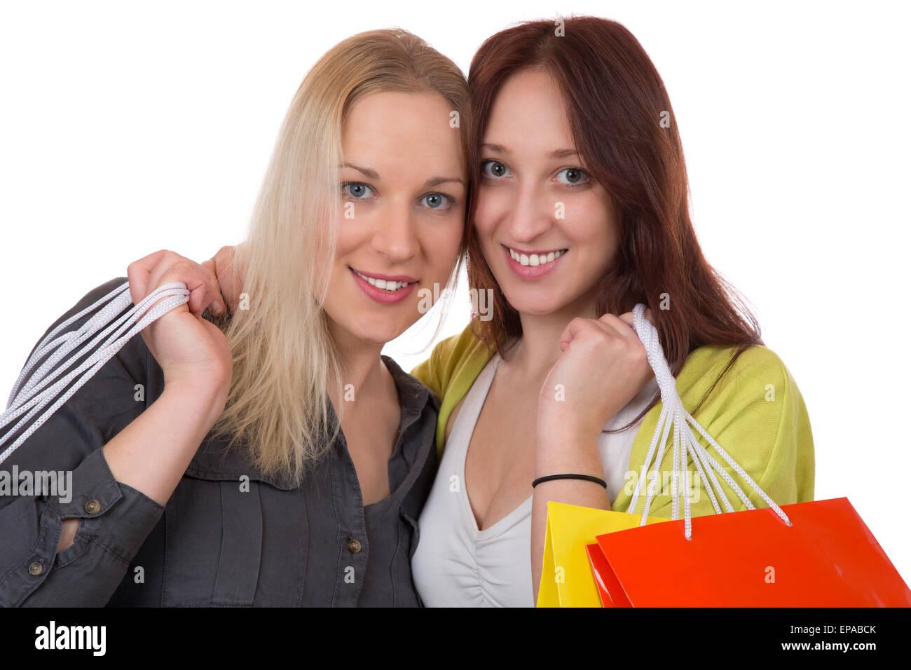 Freundinnen beim Einkaufen Stock Photo