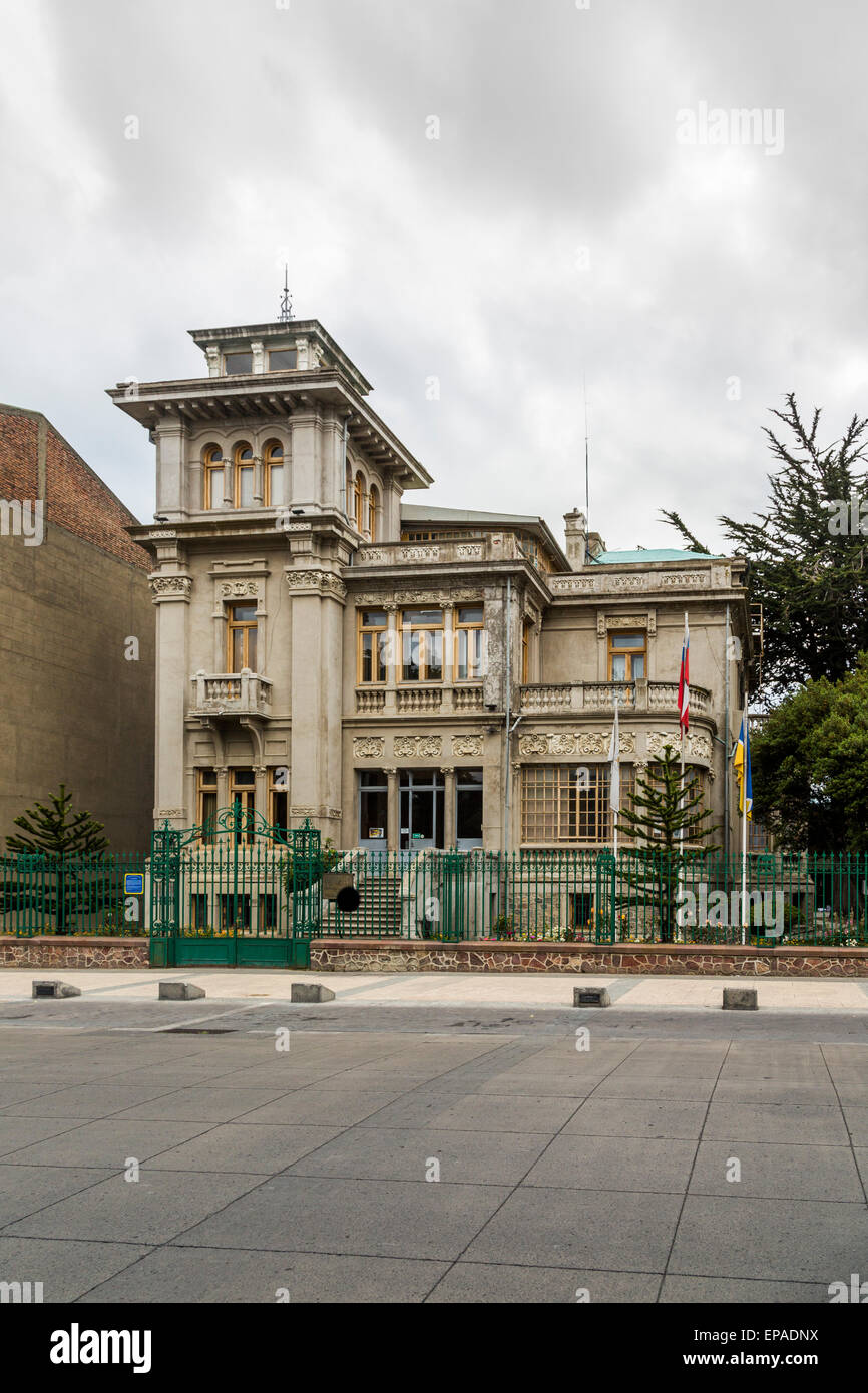elegant early 20th century villa, Paza de Armas, Punta Arenas, Chile - Stock Image