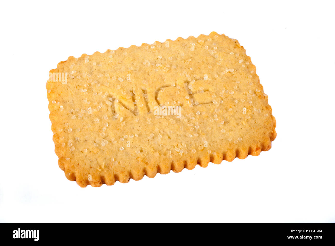 A Nice Biscuit over a plain white background. - Stock Image
