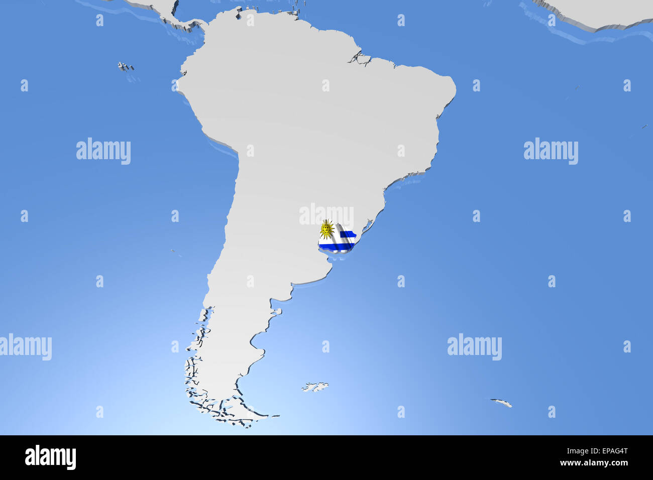 Uruguay Map 3d Stock Photos Uruguay Map 3d Stock Images Alamy