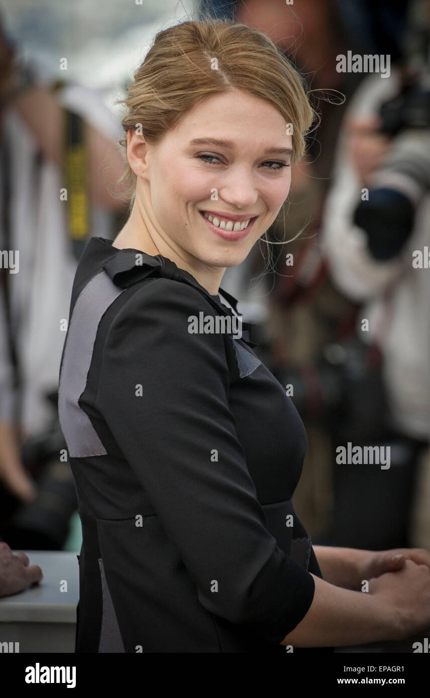 Cannes France 15th May 2015 French Actress Lea Seydoux Poses In