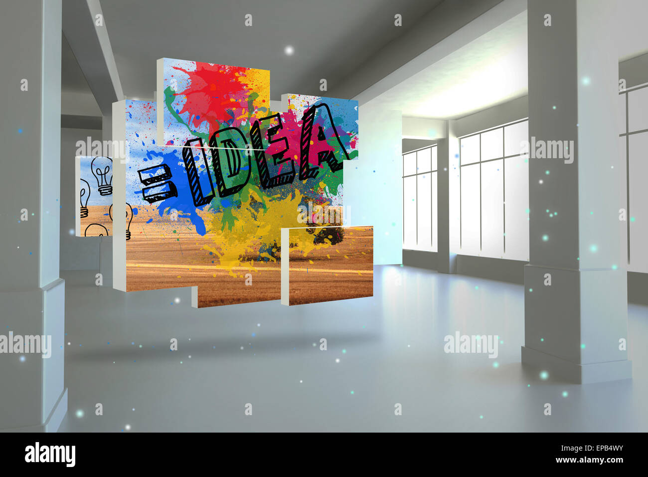 Composite image of idea on abstract screen Stock Photo