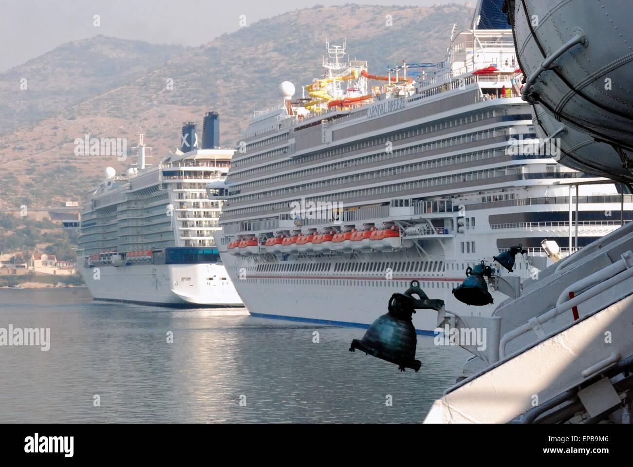 Cruise ships visits Dubrovnik, Croatia. - Stock Image