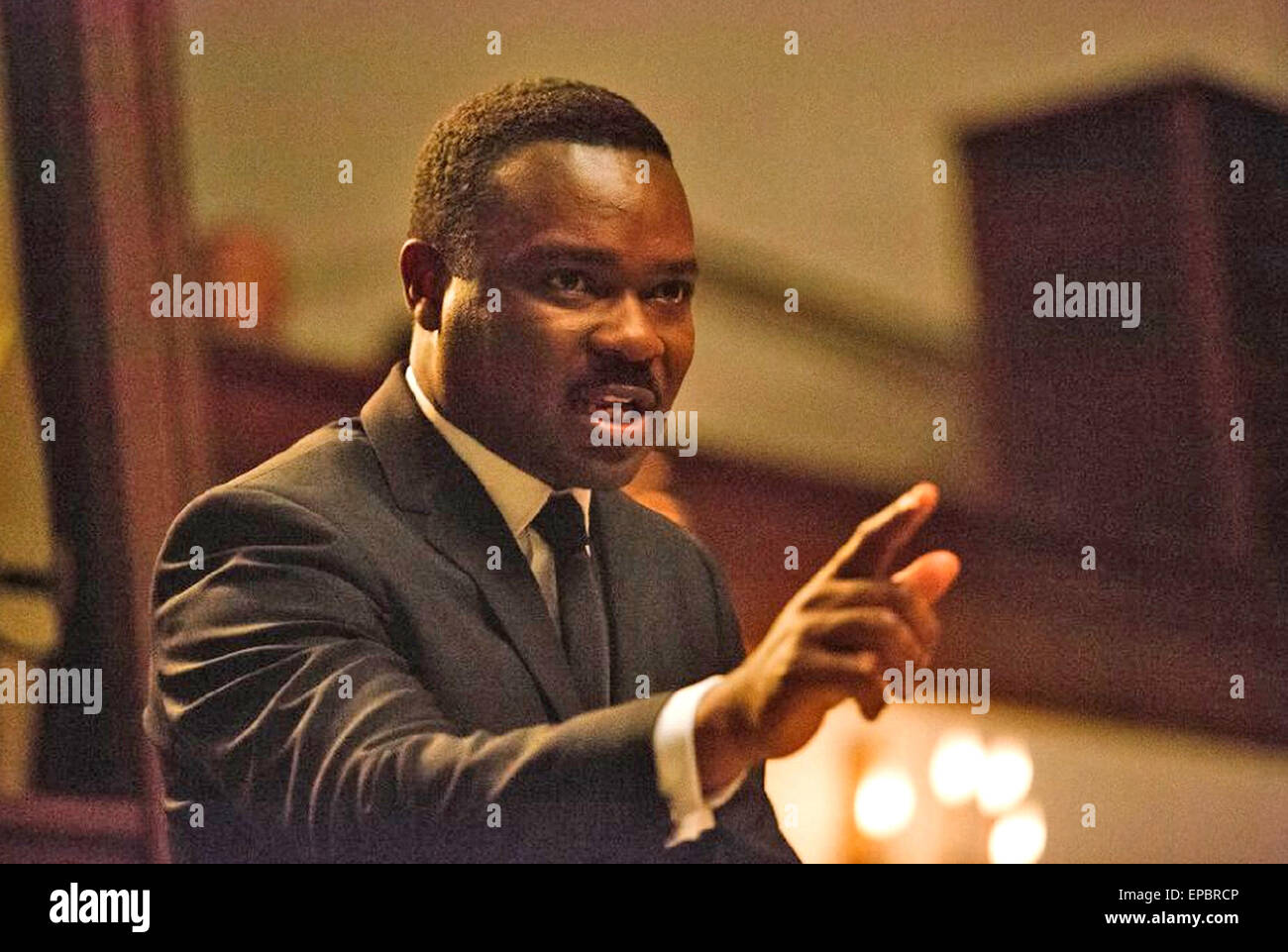 SELMA 2014 Paramount Pictures film with David Oyelowo as Martin Luther King Jnr - Stock Image