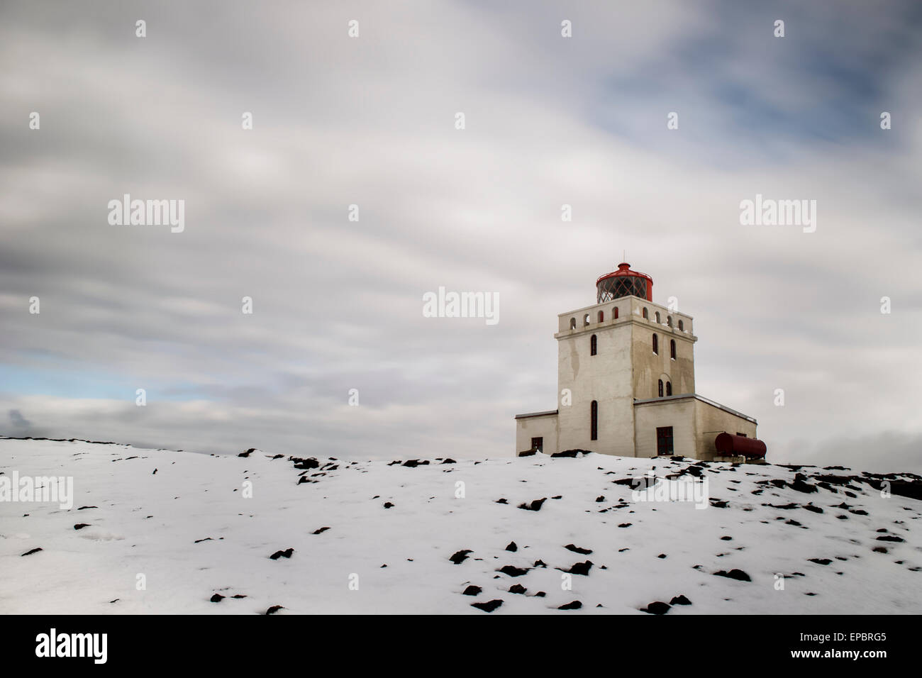 Dyrhólaey lighthouse - Stock Image
