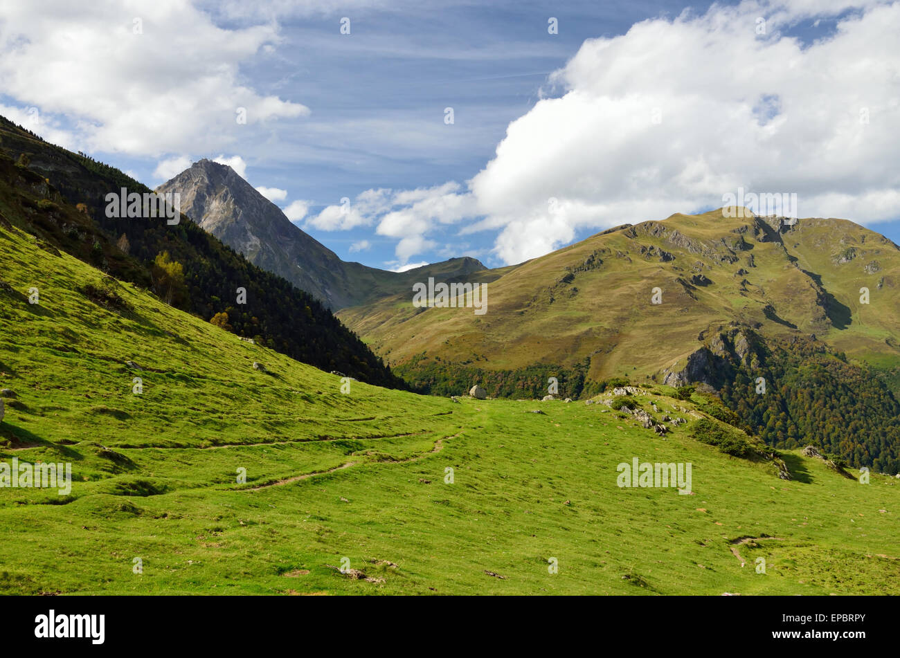 Autumn view of the French Pyrenees Stock Photo