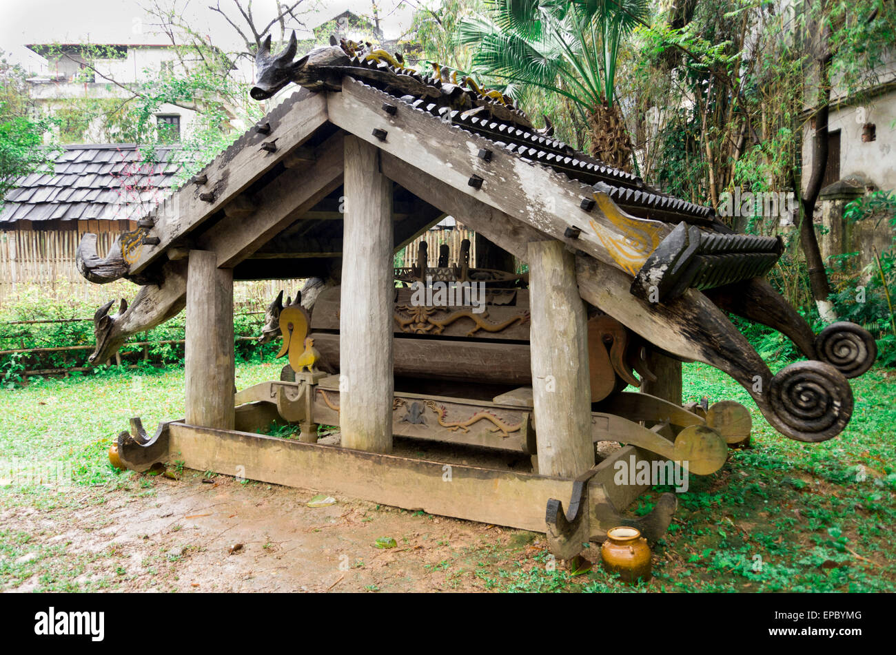 Museum Of Ethnology - Cotu Tomb - Stock Image