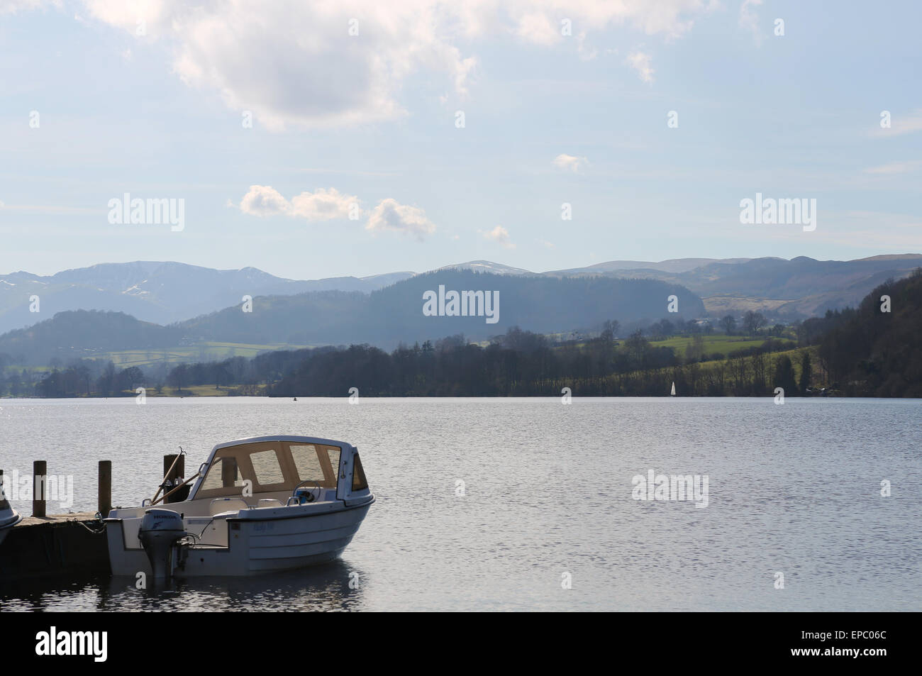 Boats in Lake District, UK Stock Photo