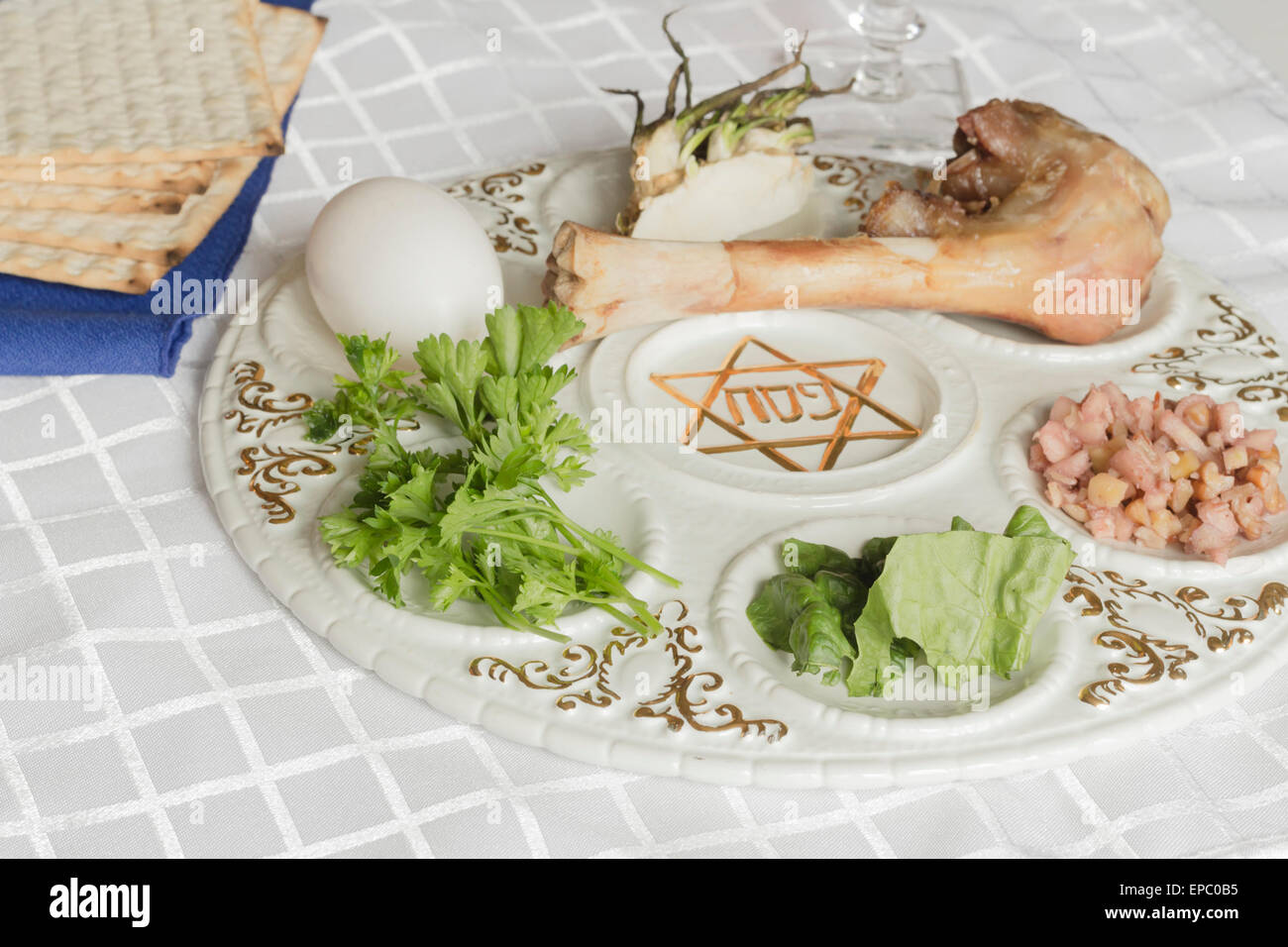 Jewish seder plate  Six foods make up this passover meal