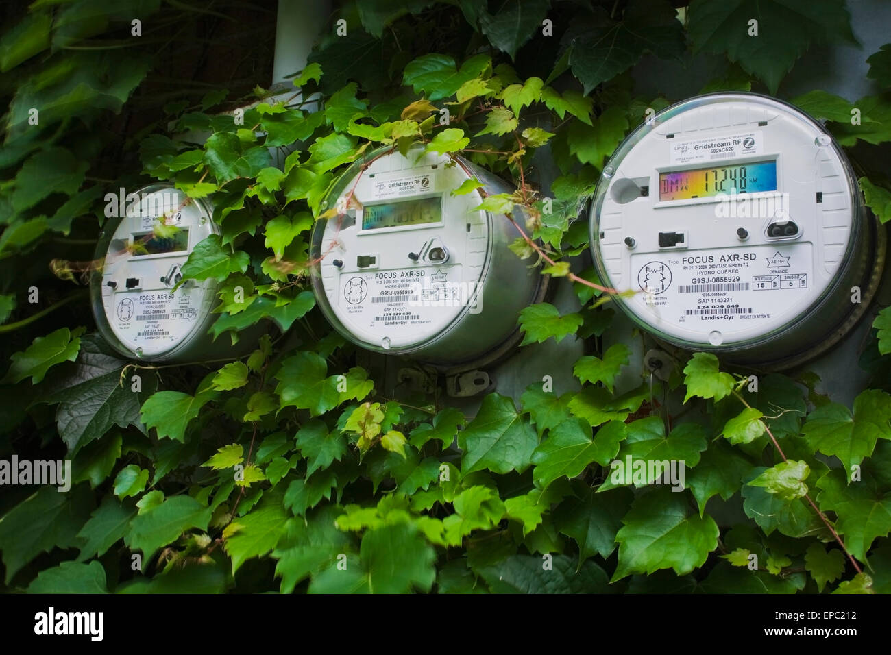 Canada,Meter,Quebec,Montreal,Hydro Electricity - Stock Image