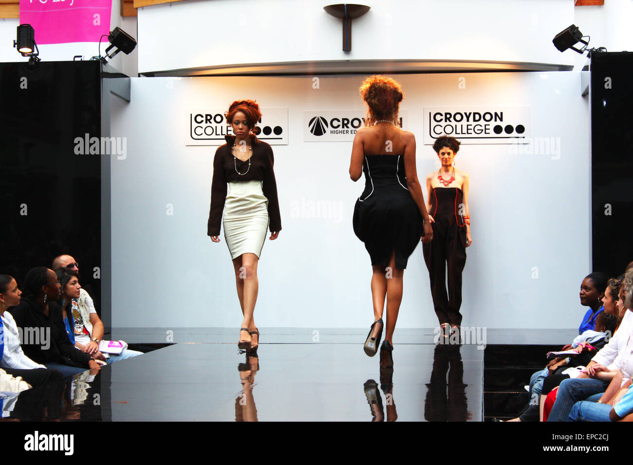 CROYDON, LONDON - JUNE 18 : Models in Fashion Festival on June 18, 2008 in Whitgift Shopping Centre, Croydon, England Stock Photo