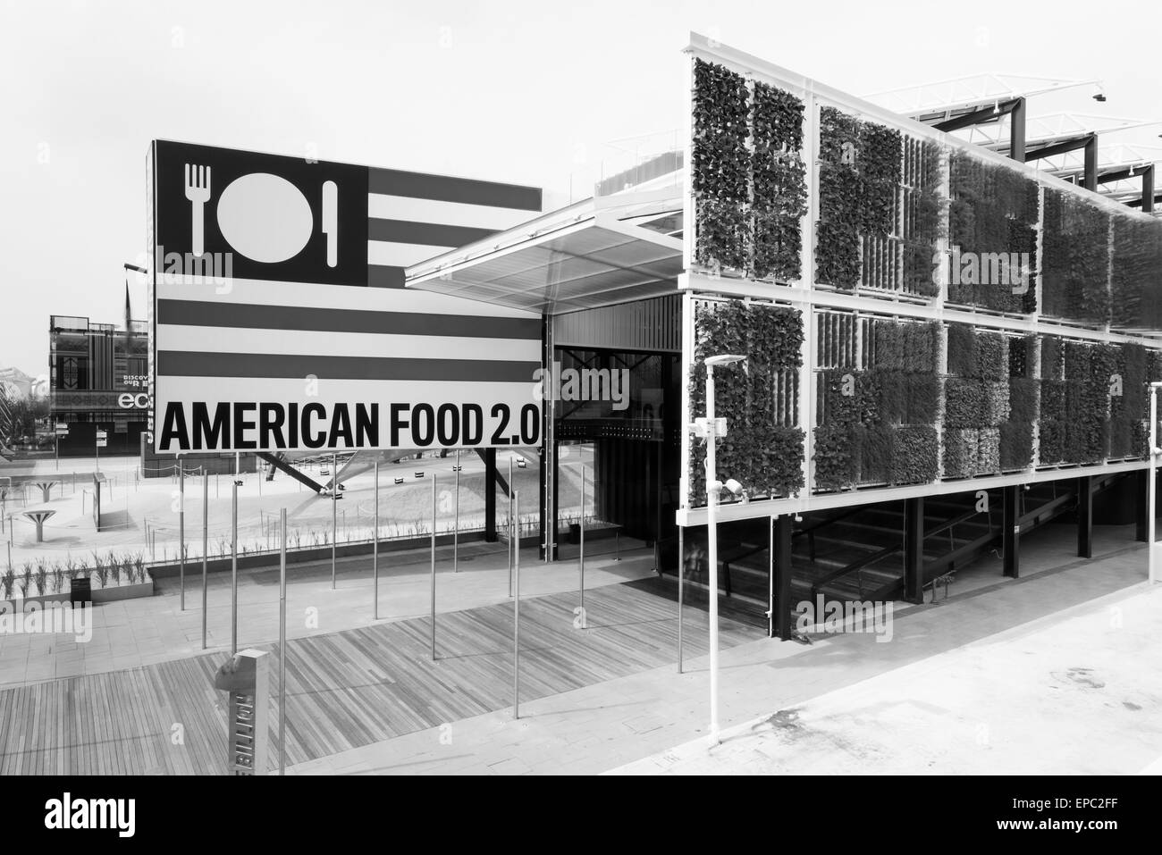 Milan, Italy, 5th May 2015. The United States of America pavilion at Expo 2015. - Stock Image