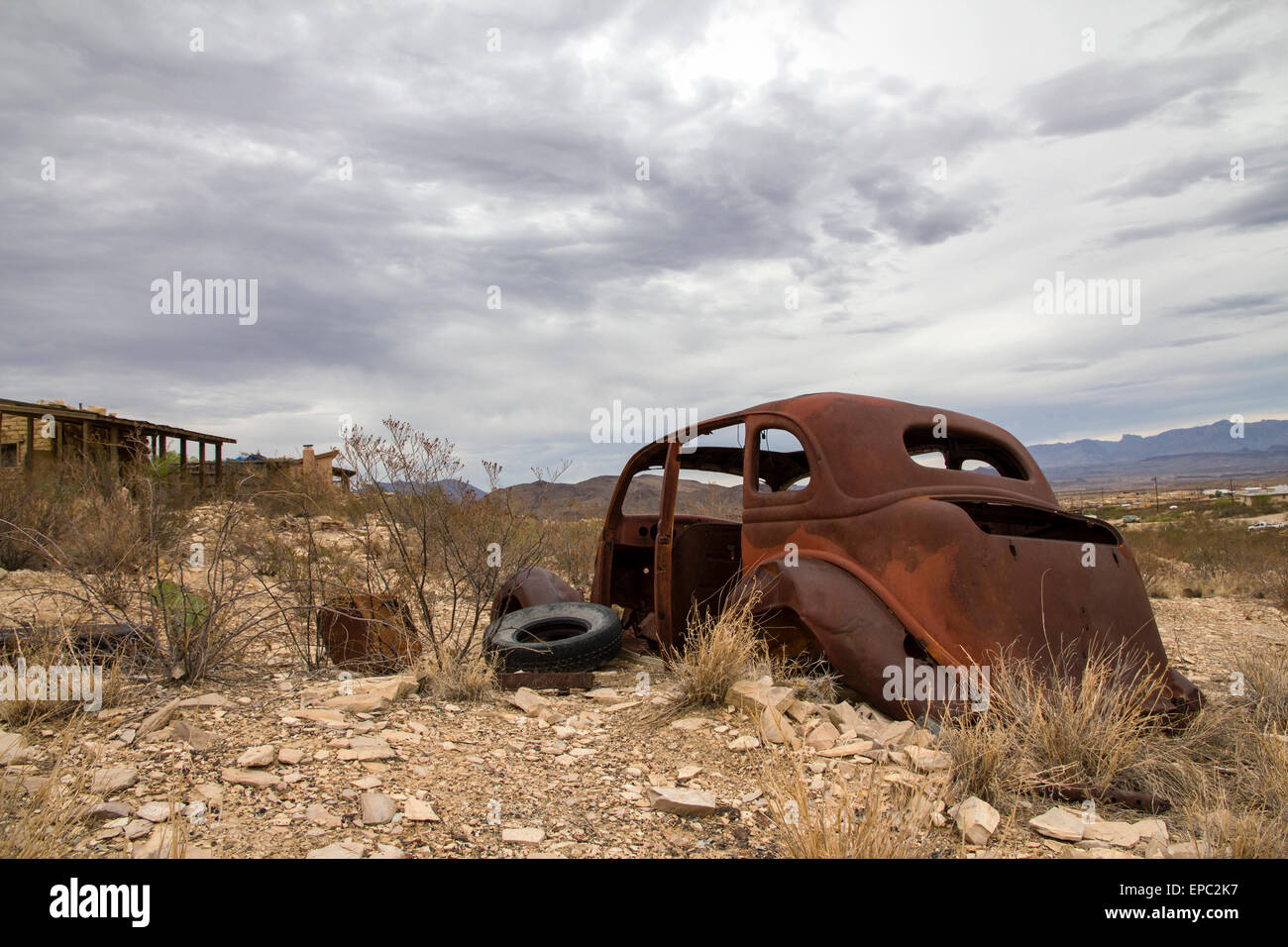 Ghost Town of U.S. - Stock Image
