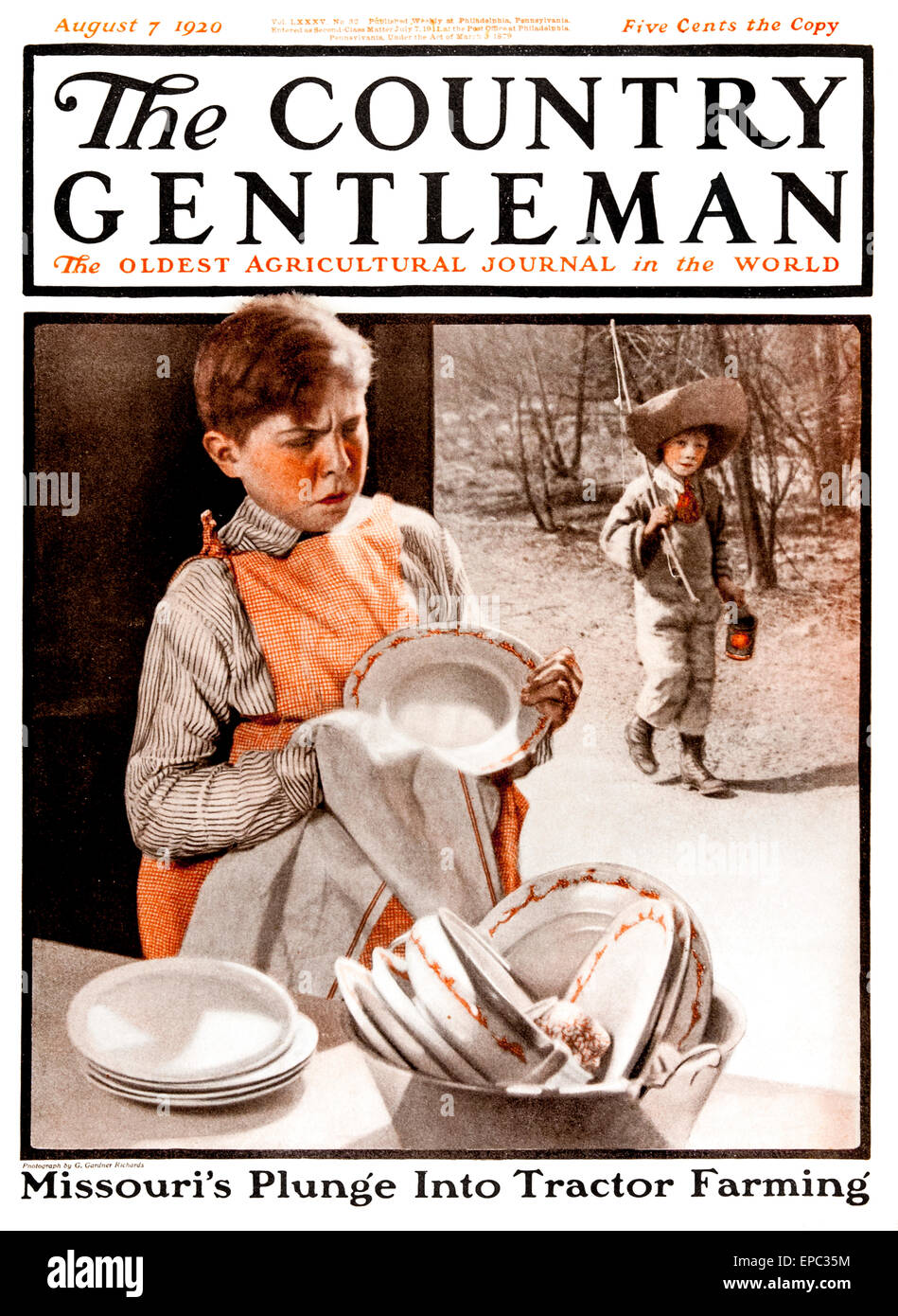 Cover of Country Gentleman agricultural magazine from the early 20th century.  . - Stock Image