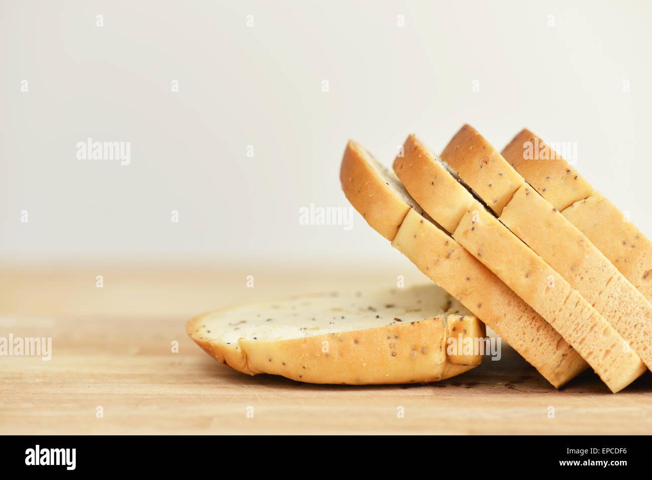 Gluten free bread sliced - Stock Image