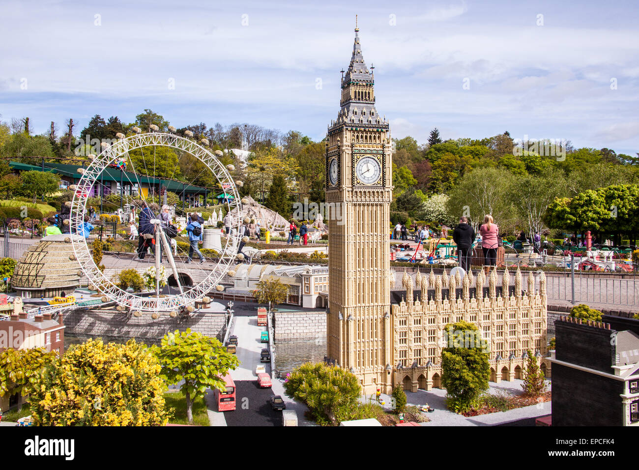 Big Ben and the houses of parliament at Legoland Theme Park, Windsor, Berkshire, United Kingdom. Stock Photo