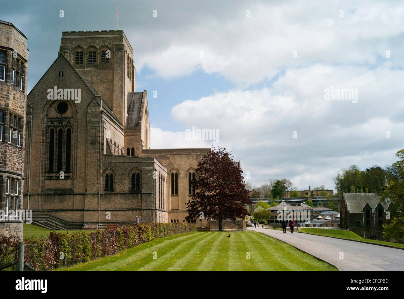 Ampleforth Abbey Church. Centre of monastic life and the Divine office. - Stock Image