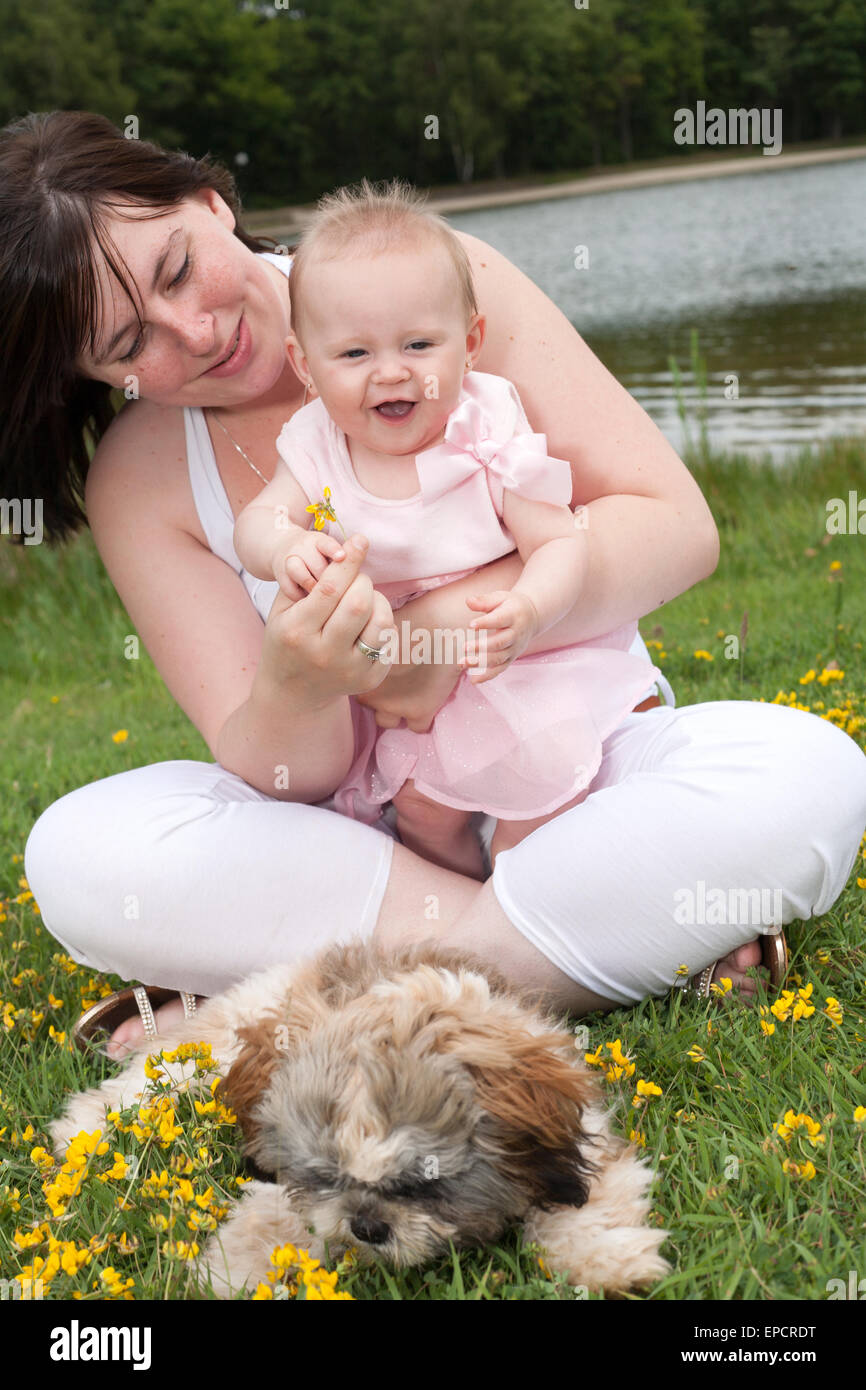 Mother and her daughter are having a nice time - Stock Image