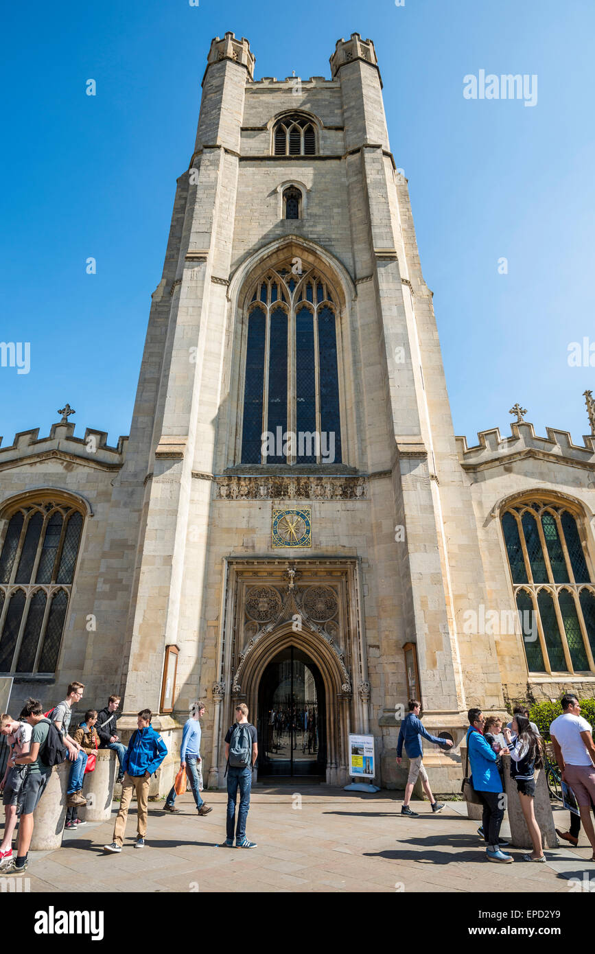Great St Mary's Church, also Church of St Mary the Great is the University church of Cambridge and is located - Stock Image