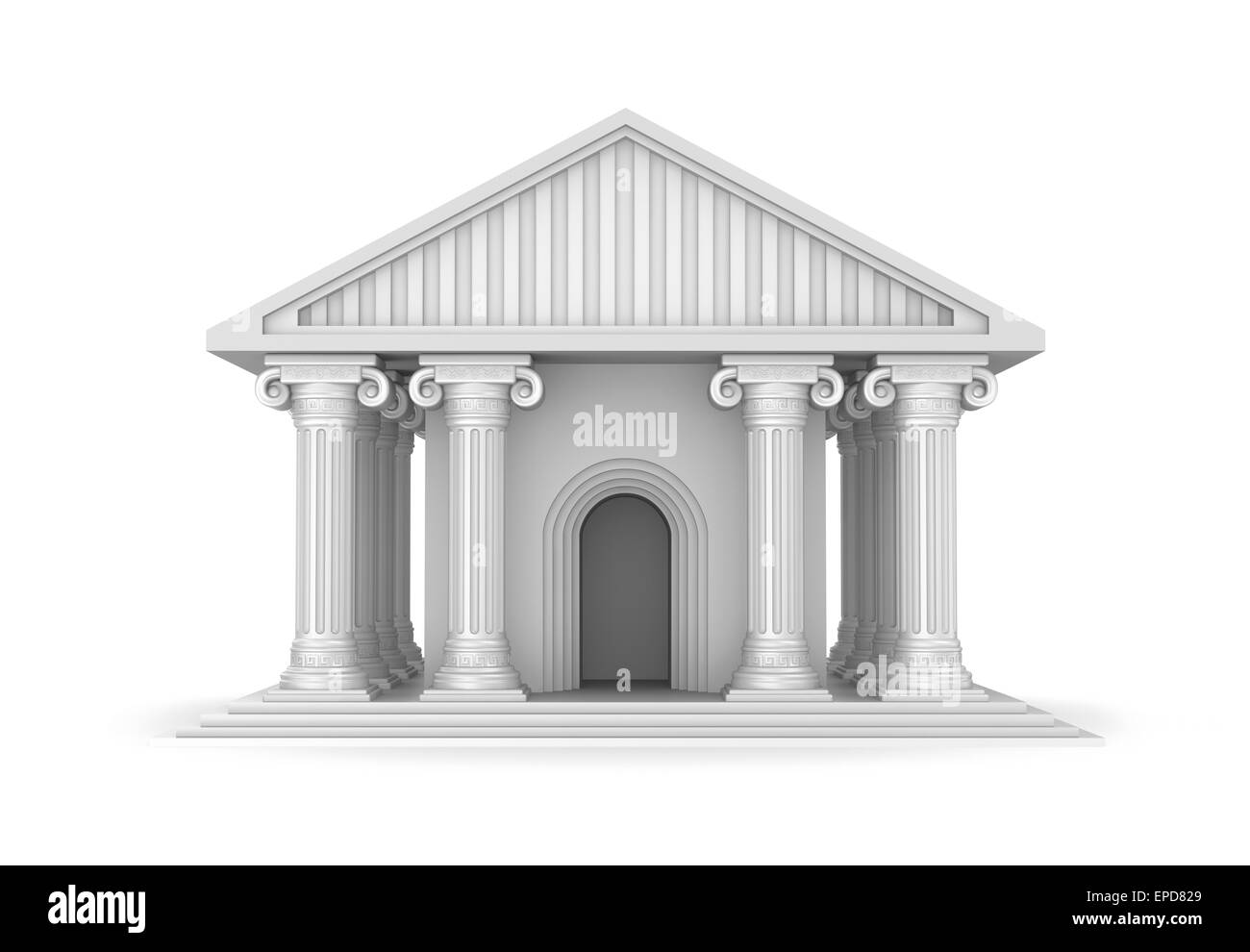 Classic antique greek temple - Stock Image