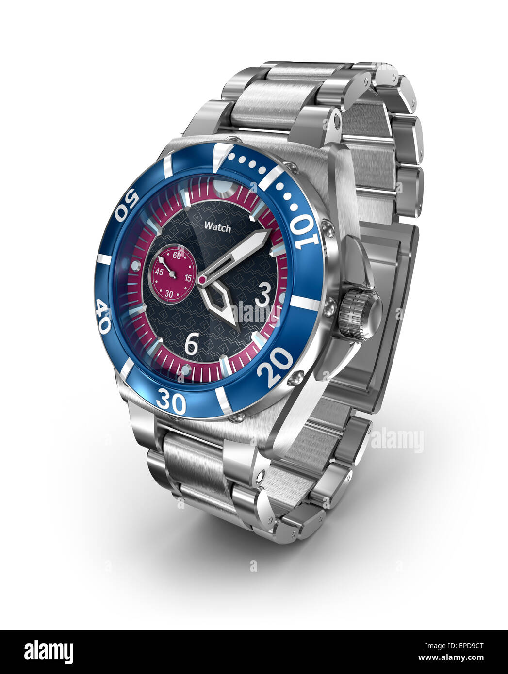 Mechanical wrist watch. 3D model. My own design - Stock Image