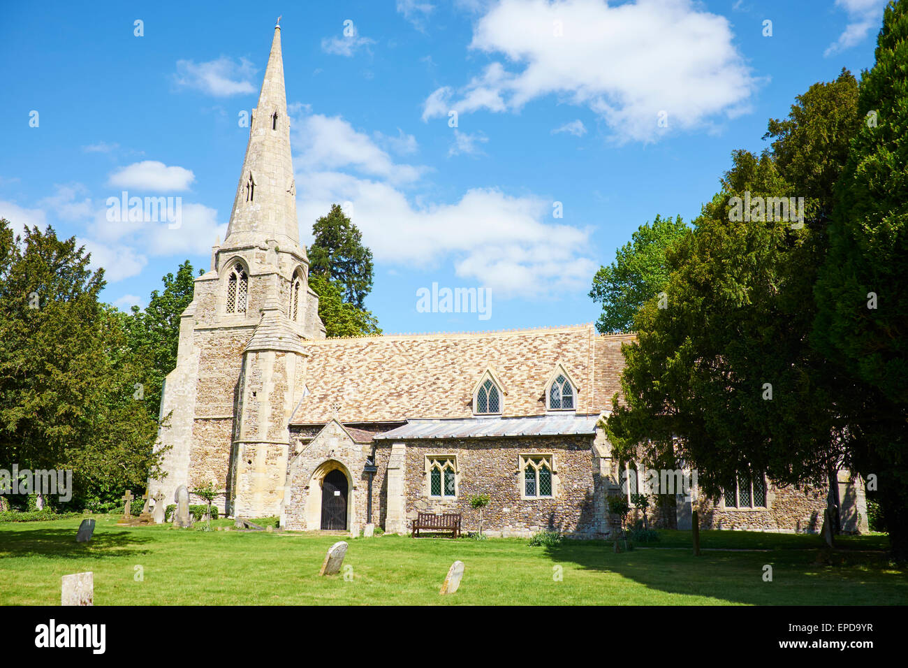 All Saints Parish Church, Church Road Grafham Cambridgeshire UK - Stock Image