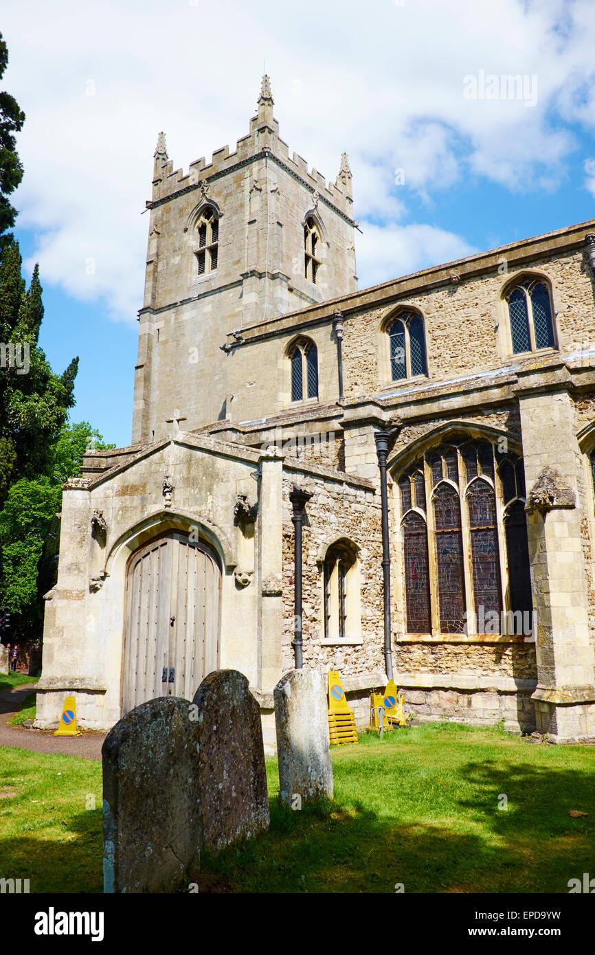 St Mary Magdalene Parish Church, Church Road Brampton Cambridgeshire UK Stock Photo