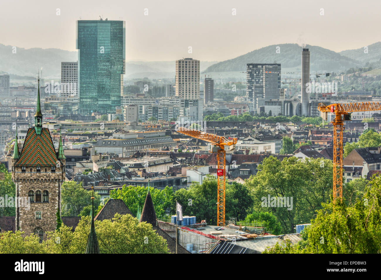 May 2015, buildings in Zurich (Switzerland), HDR-technique - Stock Image