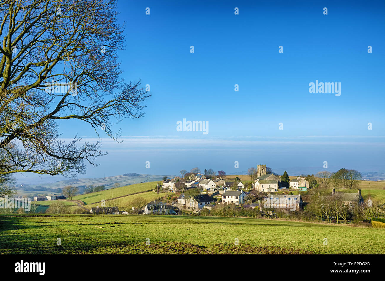 Grayrigg village in Cumbria - Stock Image
