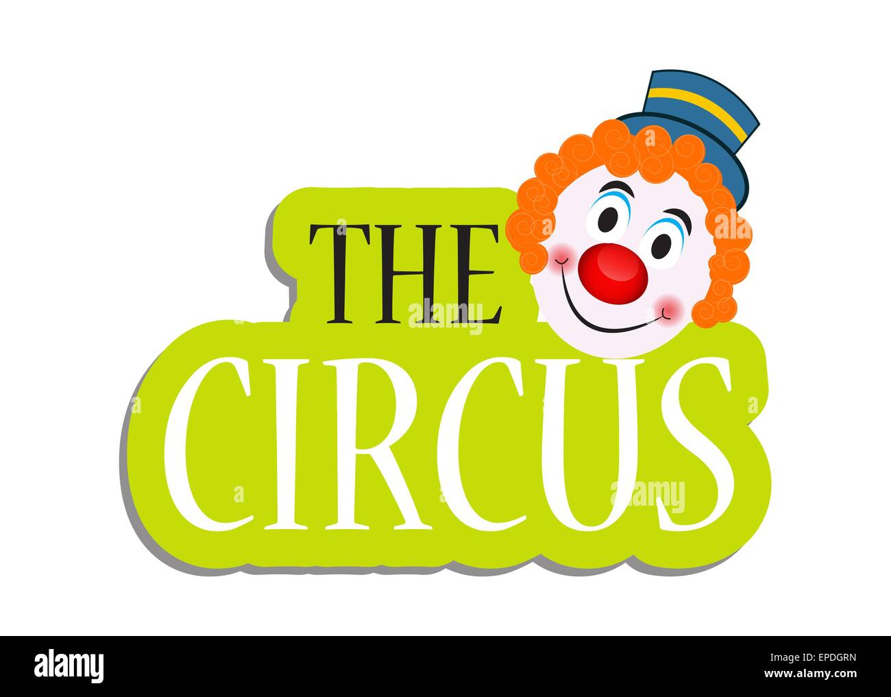 The Circus Banner Vector Illustration Stock Vector