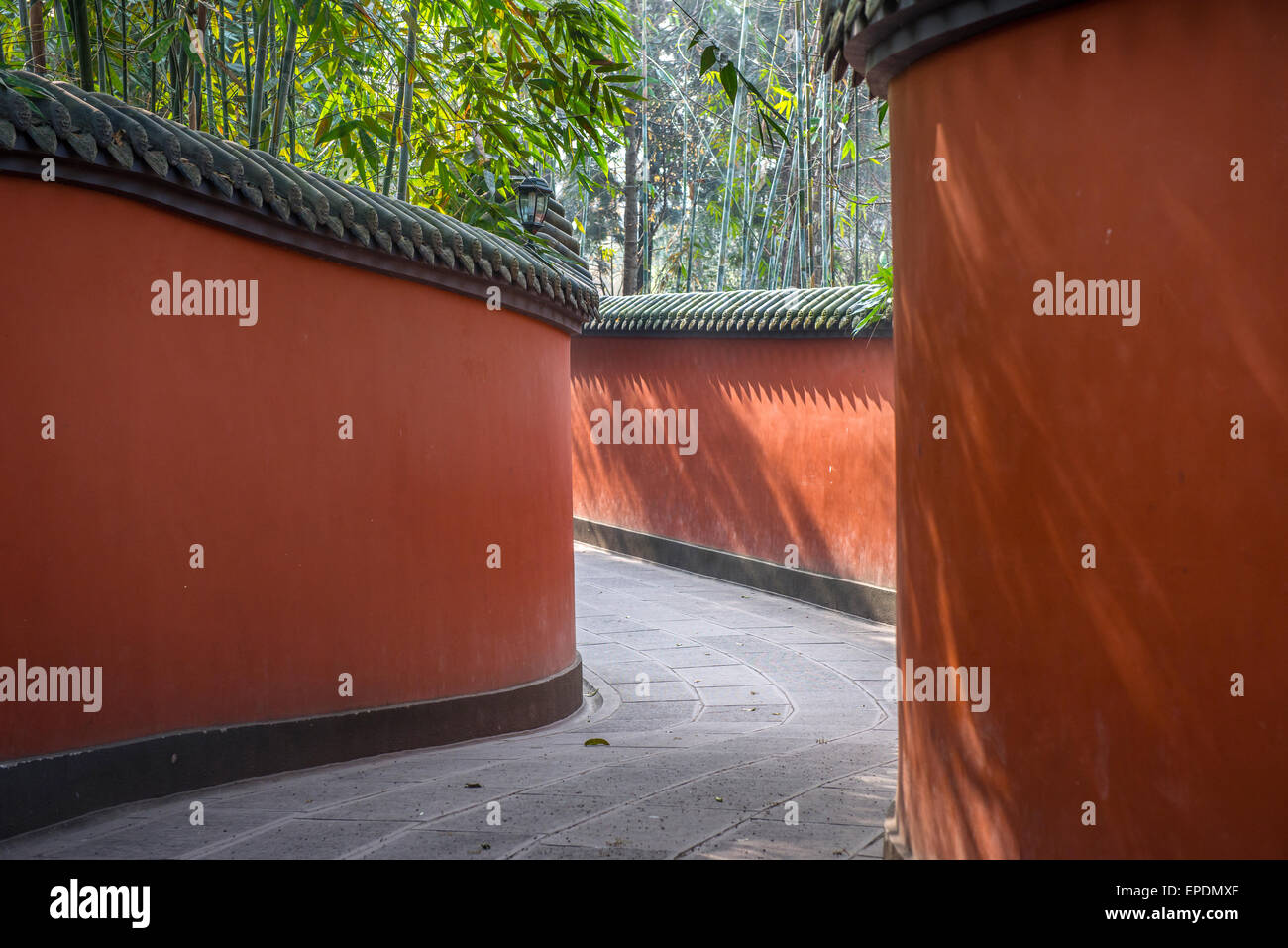 Wuhou Memorial Temple, Martial Marquis, Chengdu, Sichuan Province, China - Stock Image