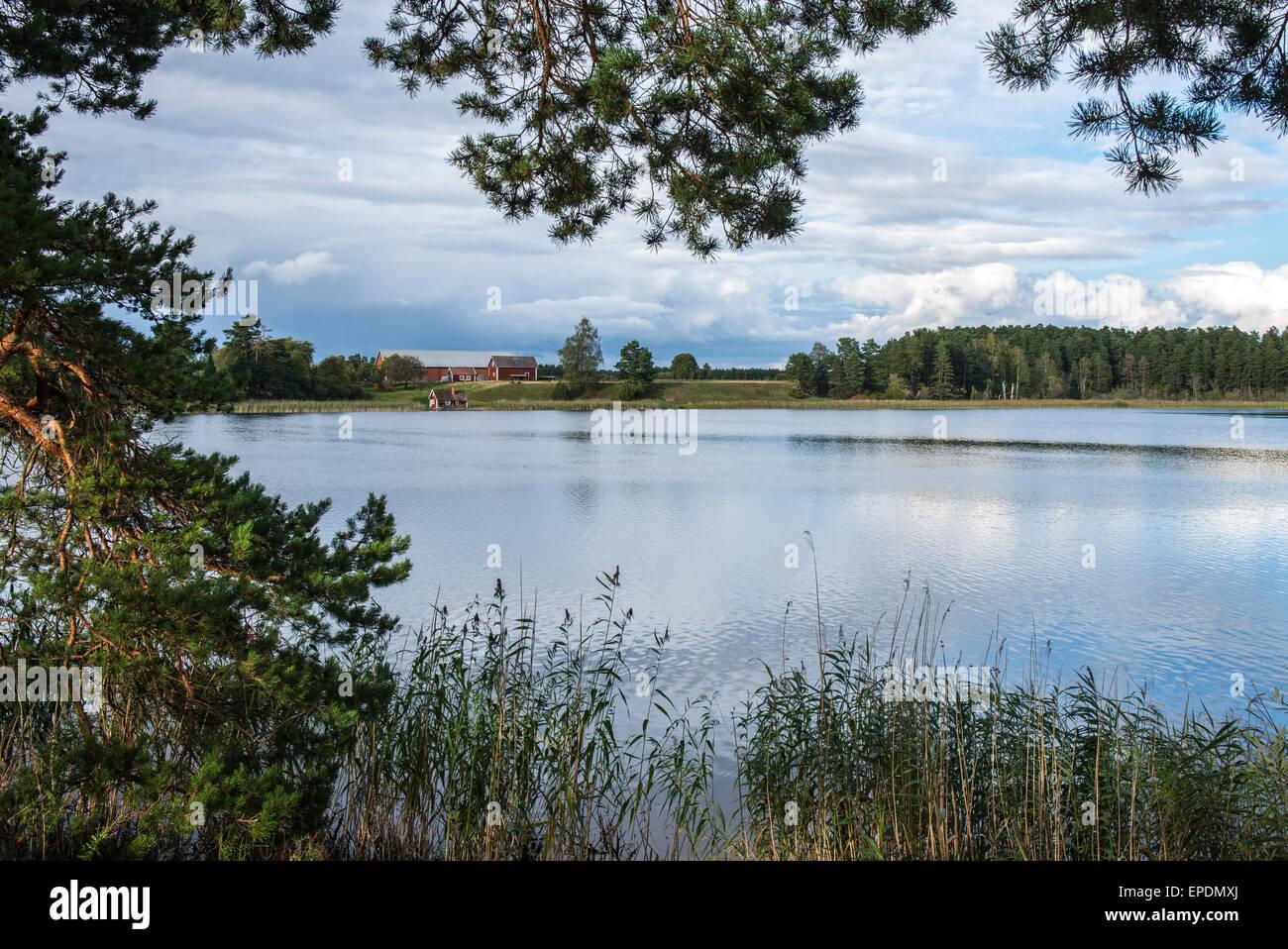 Skogssjon Lake, Mjolby, Sweden Stock Photo