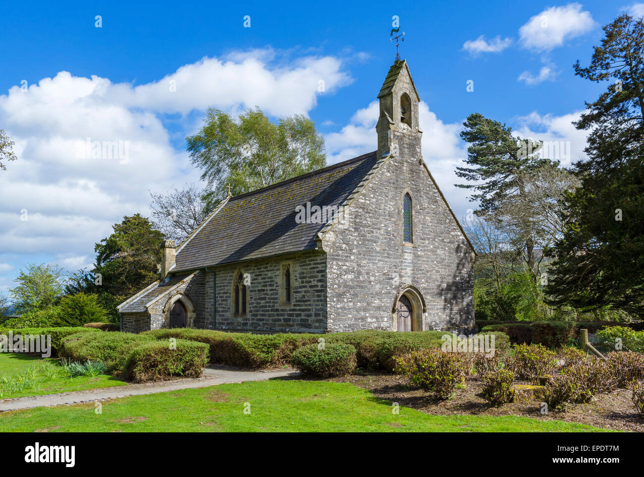 Rug Chapel, near Corwen, Denbighshire, Wales, UK - Stock Image