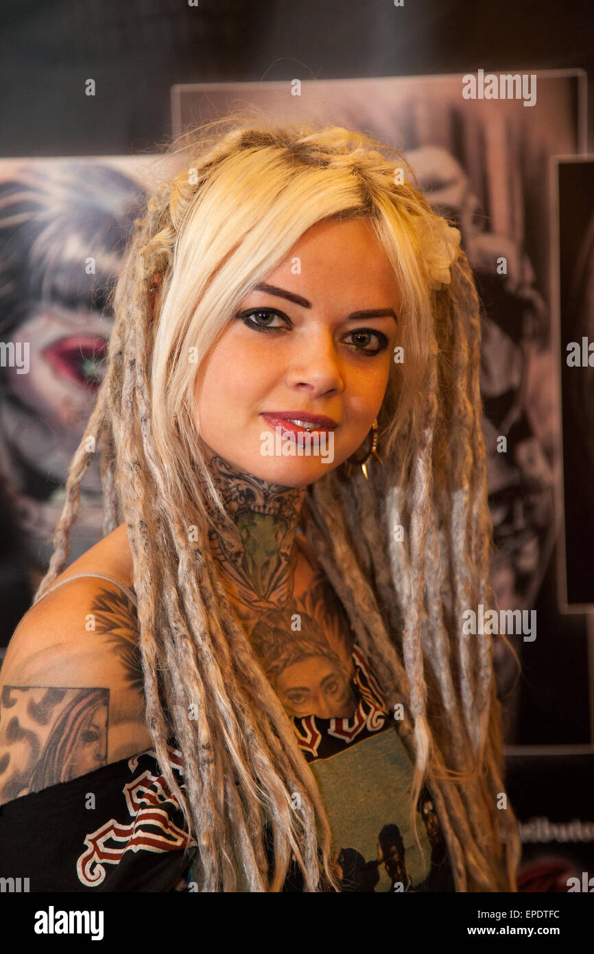 Liverpool, Merseyside, UK. 17th May, 2015. Xiayah from  at the Adelphi Hotel Tattoo Convention. The Liverpool Tattoo - Stock Image