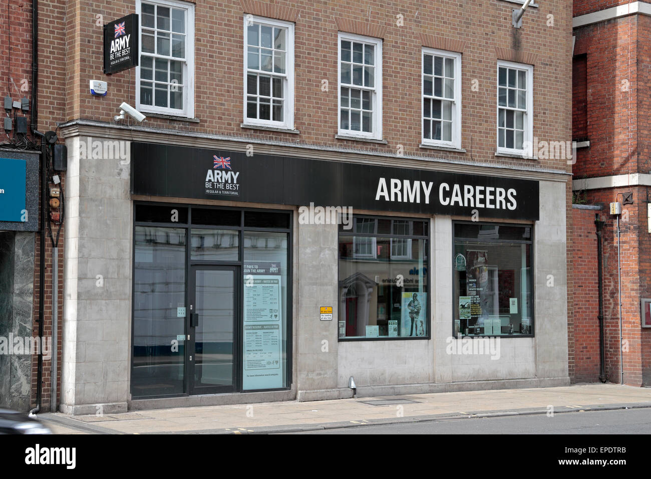 The Army Careers centre in Worcester, Worcestershire, UK. - Stock Image