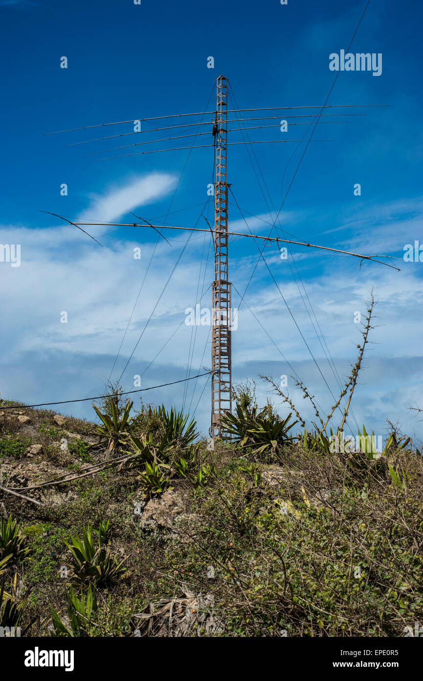 Amateur Radio station on top of Monte Verde at 750 m a.s.l in Sao Vicente  island, Cape Verde archipelago in the Atlantic Ocean.