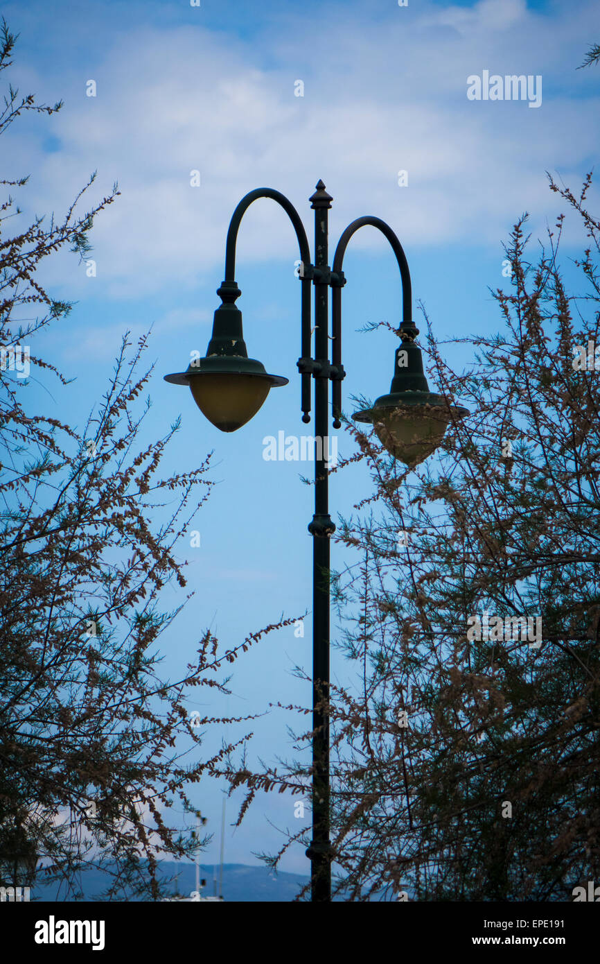 Street Light Corfu - Stock Image