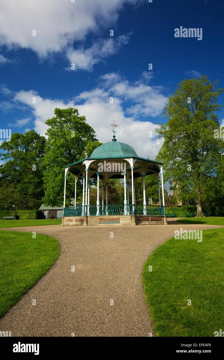 The Bandstand in the Quarry Park Shrewsbury Shropshire West Midlands England UK - Stock Image