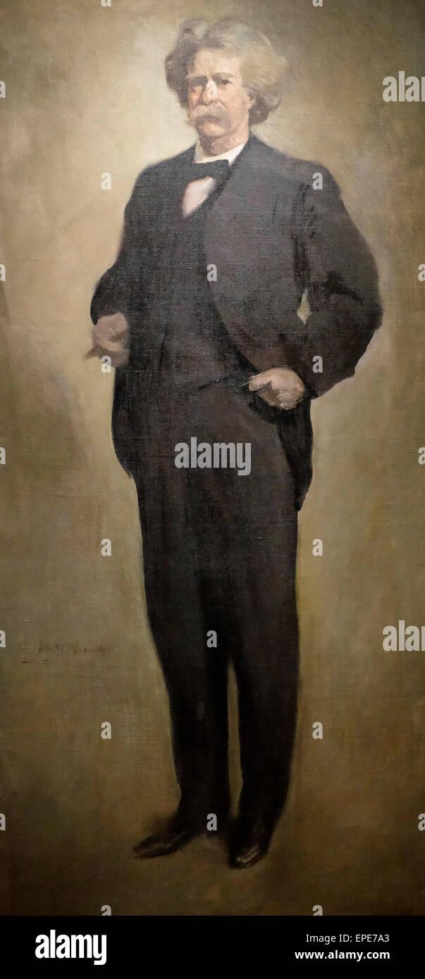 Samuel Clemens, circa 1912  John White Alexander - Stock Image