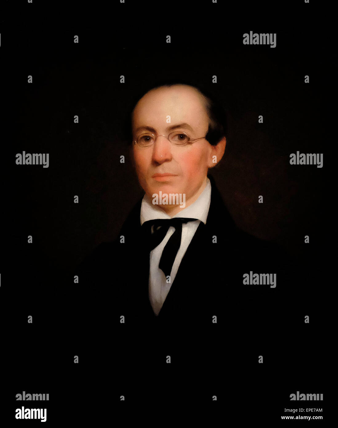 Willaim Lloyd Garrison, Abolitionist, 1833  Nathaniel Jocelyn Stock Photo
