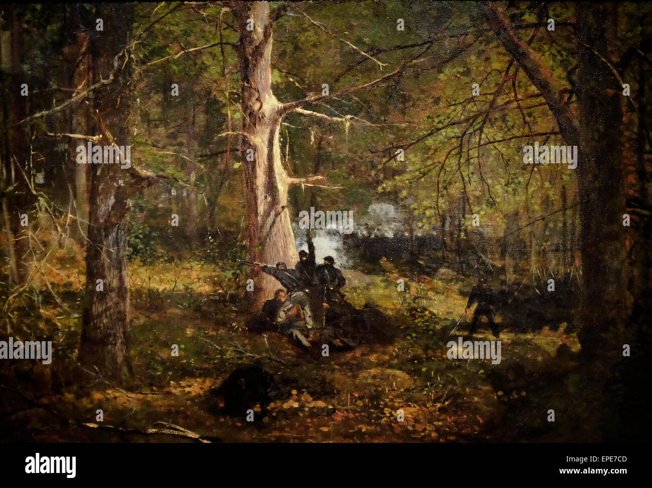 Skirmish in the Wilderness, Virginia, 1864 USA Civil War Winslow Homer - Stock Image